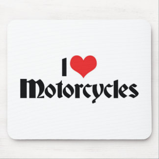 I Love Motorcycles Mouse Pad