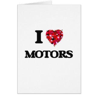 I Love Motors Greeting Card