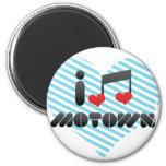 I Love Motown 2 Inch Round Magnet