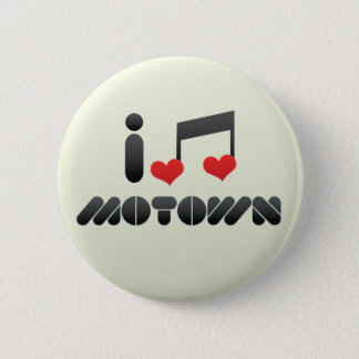 I Love Motown Button
