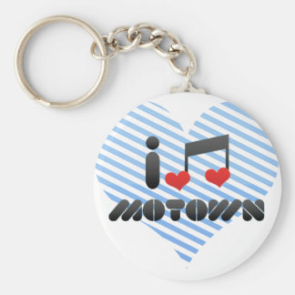 I Love Motown Key Chains