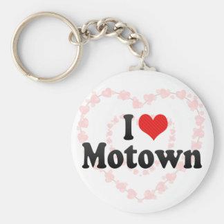 I Love Motown Keychain