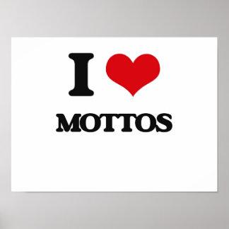 I Love Mottos Print