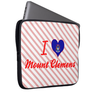 I Love Mount Clemens, Michigan Laptop Computer Sleeves