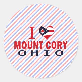 I love Mount Cory, Ohio Round Stickers