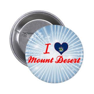 I Love Mount Desert, Maine Pinback Button