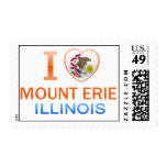 I Love Mount Erie, IL Postage Stamp