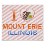 I Love Mount Erie, IL Poster