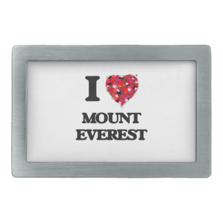 I love Mount Everest Rectangular Belt Buckles