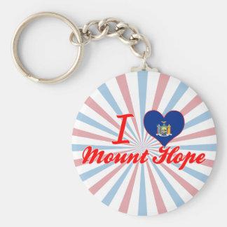 I Love Mount Hope, New York Keychains