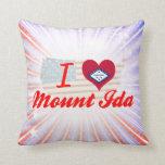 I Love Mount Ida, Arkansas Pillows