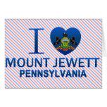 I Love Mount Jewett, PA Greeting Cards