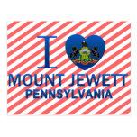 I Love Mount Jewett, PA Postcard