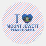I Love Mount Jewett, PA Round Sticker