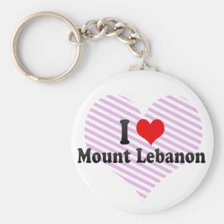 I Love Mount Lebanon, United States Keychains