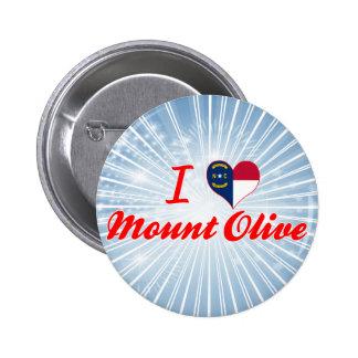 I Love Mount Olive, North Carolina Pinback Button