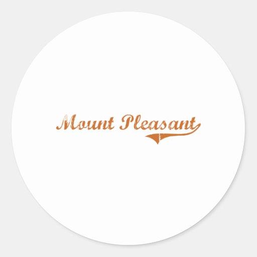 I Love Mount Pleasant Texas Classic Round Sticker