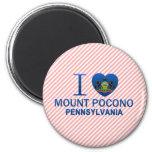 I Love Mount Pocono, PA Fridge Magnets