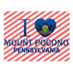 I Love Mount Pocono, PA Postcard