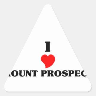 I love Mount Prospect Triangle Sticker
