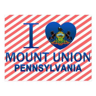 I Love Mount Union, PA Postcard