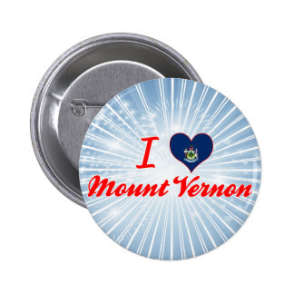 I Love Mount Vernon, Maine Pinback Buttons