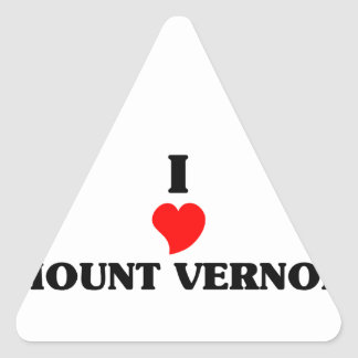 I love Mount Vernon Triangle Sticker