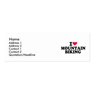 I love Mountain Biking Business Cards