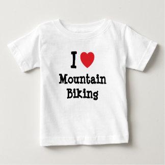I love Mountain Biking heart custom personalized Baby T-Shirt