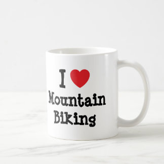 I love Mountain Biking heart custom personalized Coffee Mug