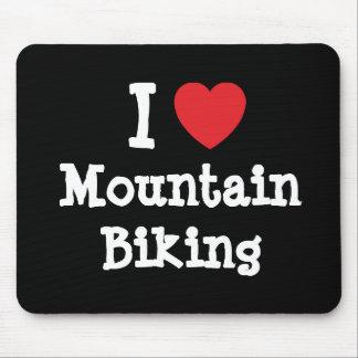 I love Mountain Biking heart custom personalized Mouse Mats