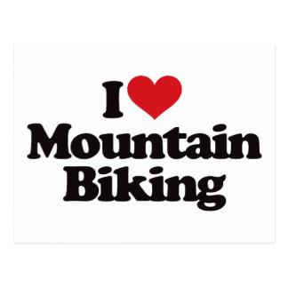 I Love Mountain Biking Postcard