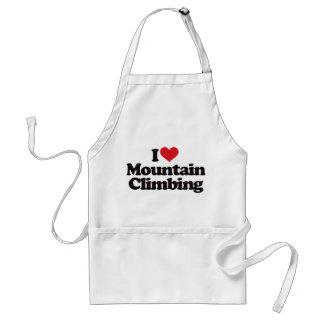 I Love Mountain Climbing Adult Apron