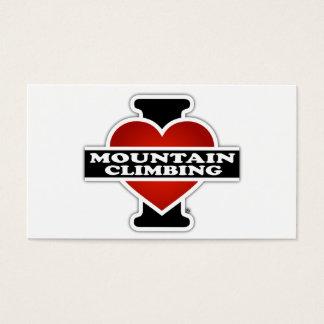 I Love Mountain Climbing Business Card