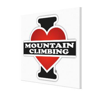 I Love Mountain Climbing Canvas Print
