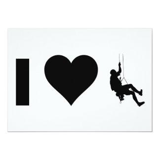 I Love Mountain Climbing Card