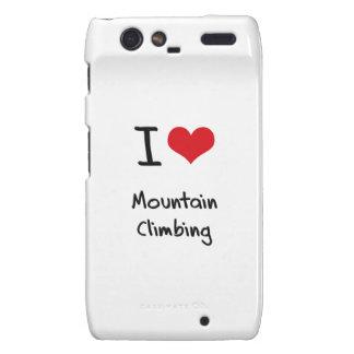 I love Mountain Climbing Motorola Droid RAZR Cover
