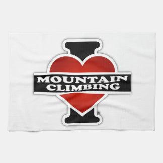 I Love Mountain Climbing Kitchen Towel