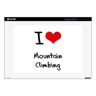 """I love Mountain Climbing Decal For 15"""" Laptop"""