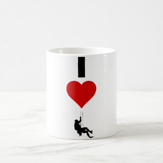 I Love Mountain Climbing (Vertical) Coffee Mug