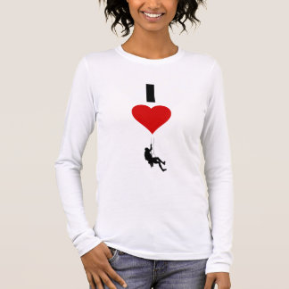 I Love Mountain Climbing (Vertical) Long Sleeve T-Shirt