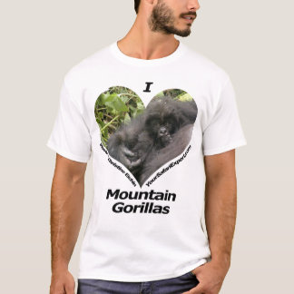 I Love Mountain Gorillas T-Shirt 3 (front & back)