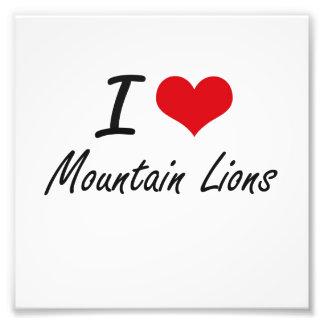 I Love Mountain Lions Photo Print