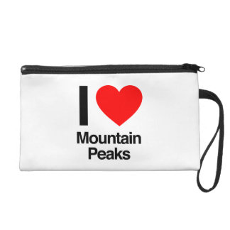 i love mountain peaks wristlet purses