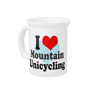 I love Mountain Unicycling Beverage Pitchers