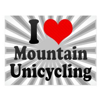 I love Mountain Unicycling Postcard