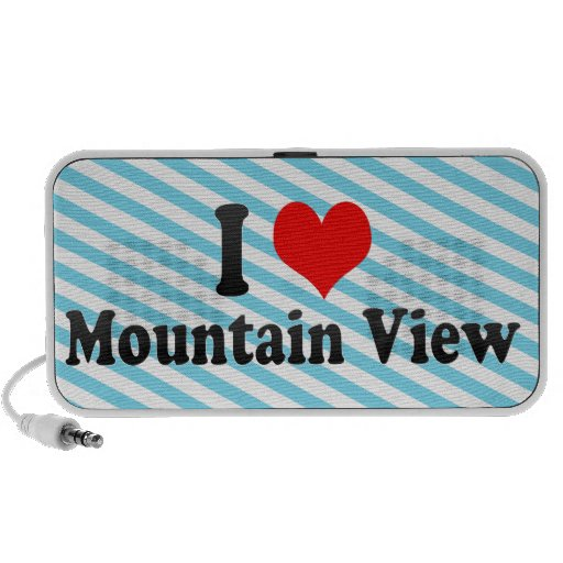 I Love Mountain View, United States Portable Speakers