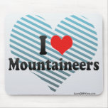 I Love Mountaineers Mouse Pad