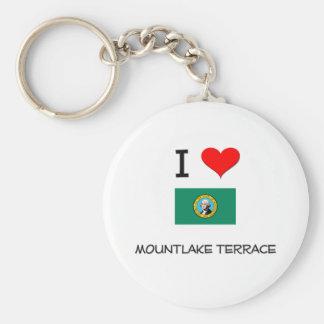 I Love Mountlake Terrace Washington Basic Round Button Keychain