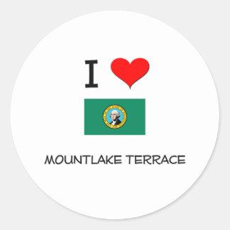 I Love Mountlake Terrace Washington Classic Round Sticker